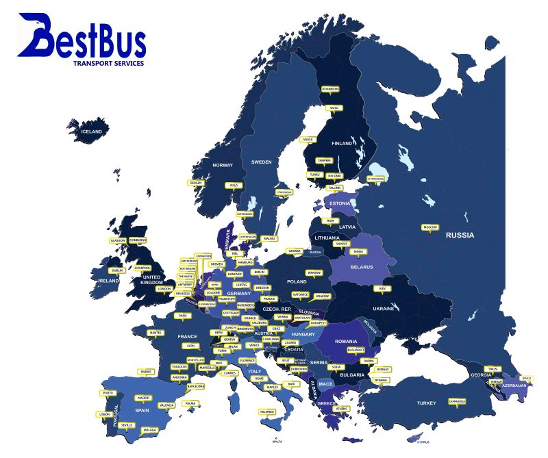 BUS RENTAL SERVICES IN EUROPE